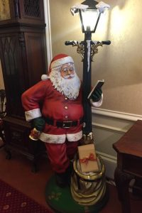 Santa with Lamp Post Prop