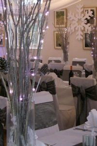 Glittered Twigs & Fairy Lights Table Centre Piece