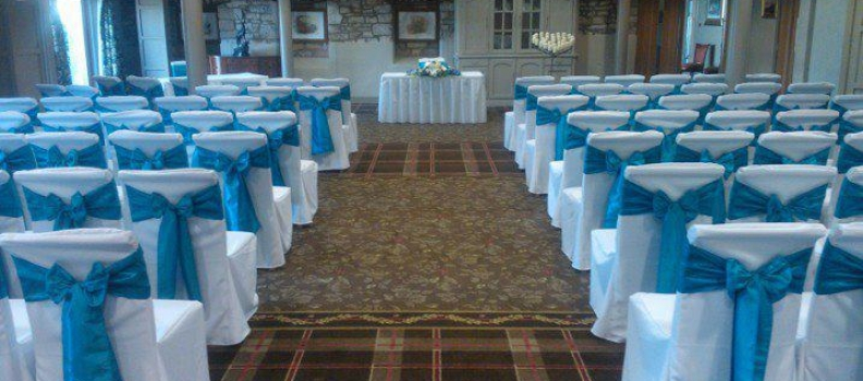 Chair Cover hire for weddings at Stanley House Hotel, Mellor, Blackburn